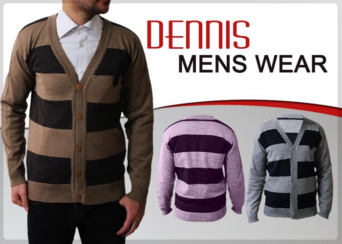 بافت جلو باز مردانه مدل Dennis