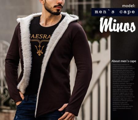 هودی خزدار مردانه  مدل minos