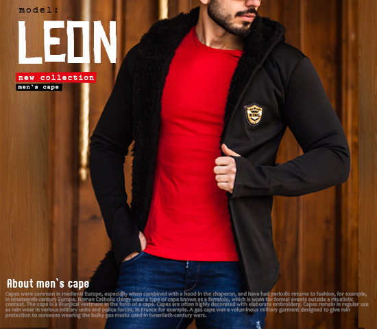 هودی مردانه مدل leon
