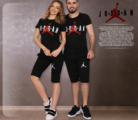 ست تیشرت و شلوارک زنانه و مردانه مدل jordan