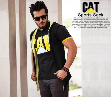 ست هودی و تیشرت مردانه Cat مدل Kita