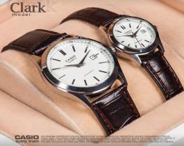 ست ساعت مچی مردانه و زنانه Casioمدل Clark(صفحه سفید)