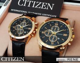 ست ساعت مچی مردانه و زنانه Citizen مدل Rene(صفحه مشکی)