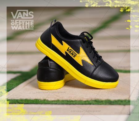 کفش مردانه Vans(مشکی،زرد)