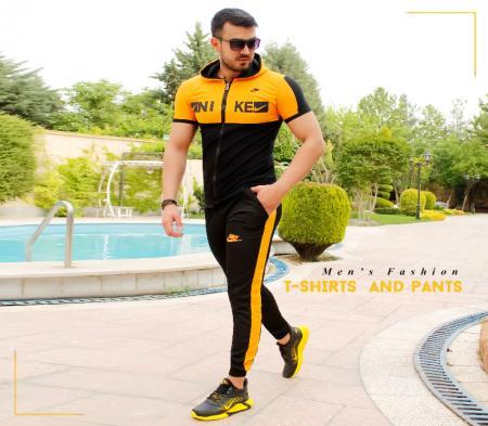 ست تیشرت و شلوار مردانه Nike مدلHero(زرد)